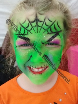 Witch face painting