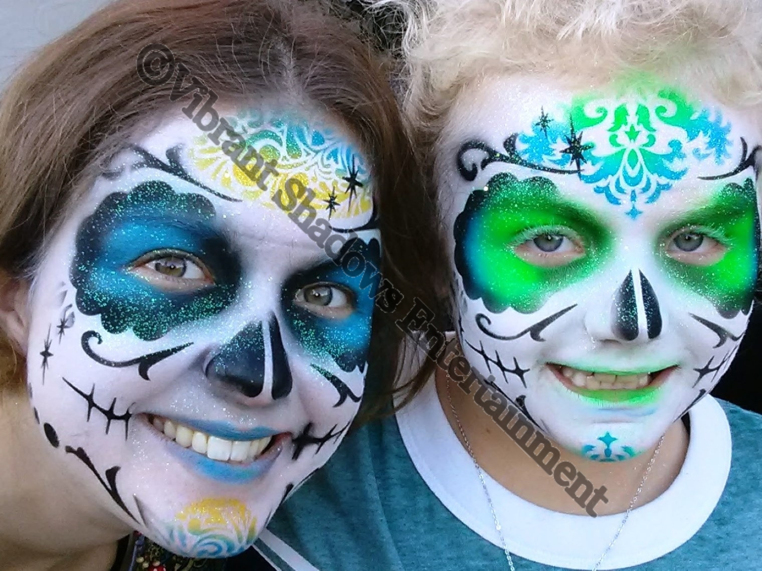 Sugar skull face paintings
