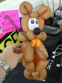 Beaver balloon sculpture
