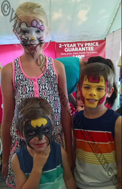 Festival face paintings