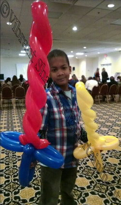 Sword balloon sculptures