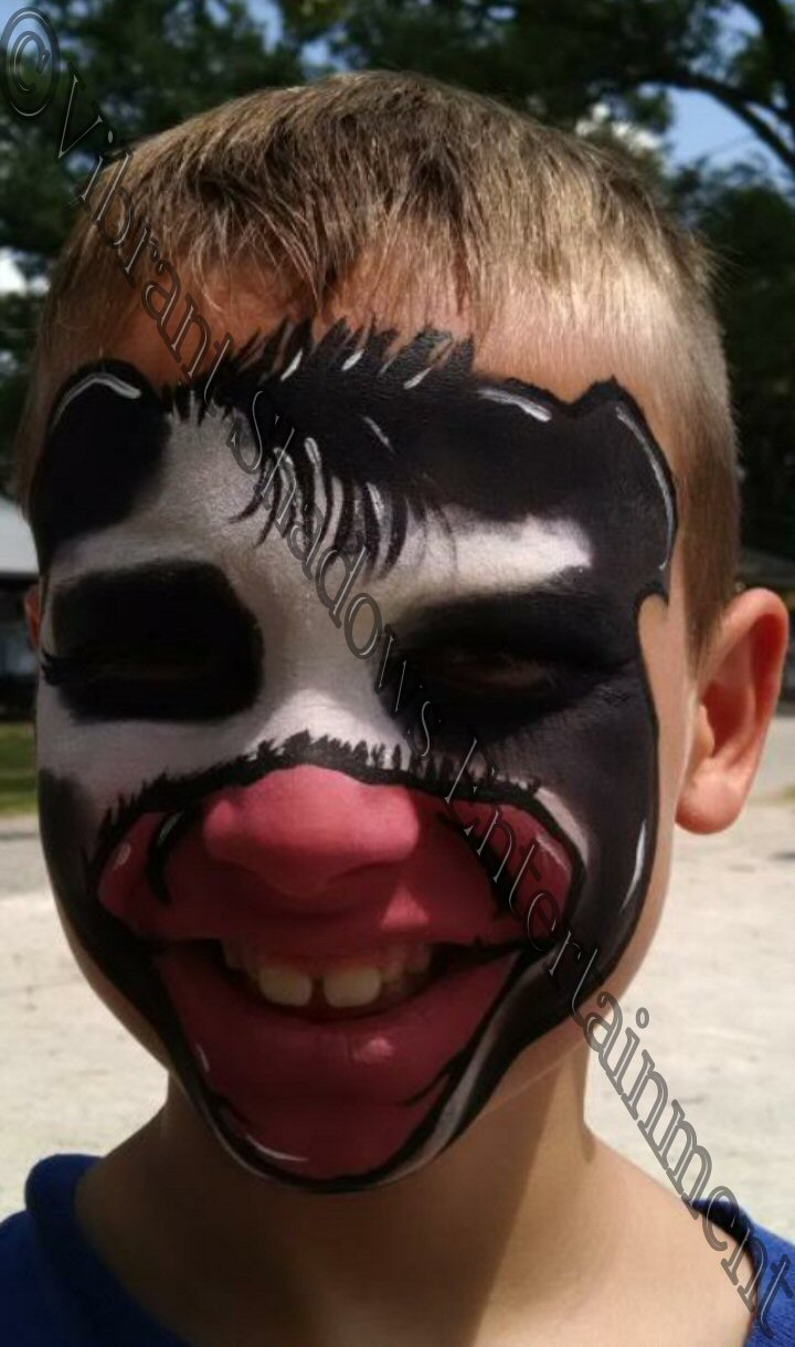 Cow face painting