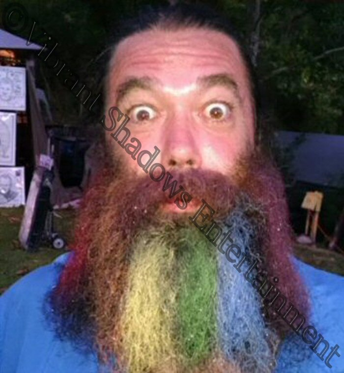 Rainbow beard painting