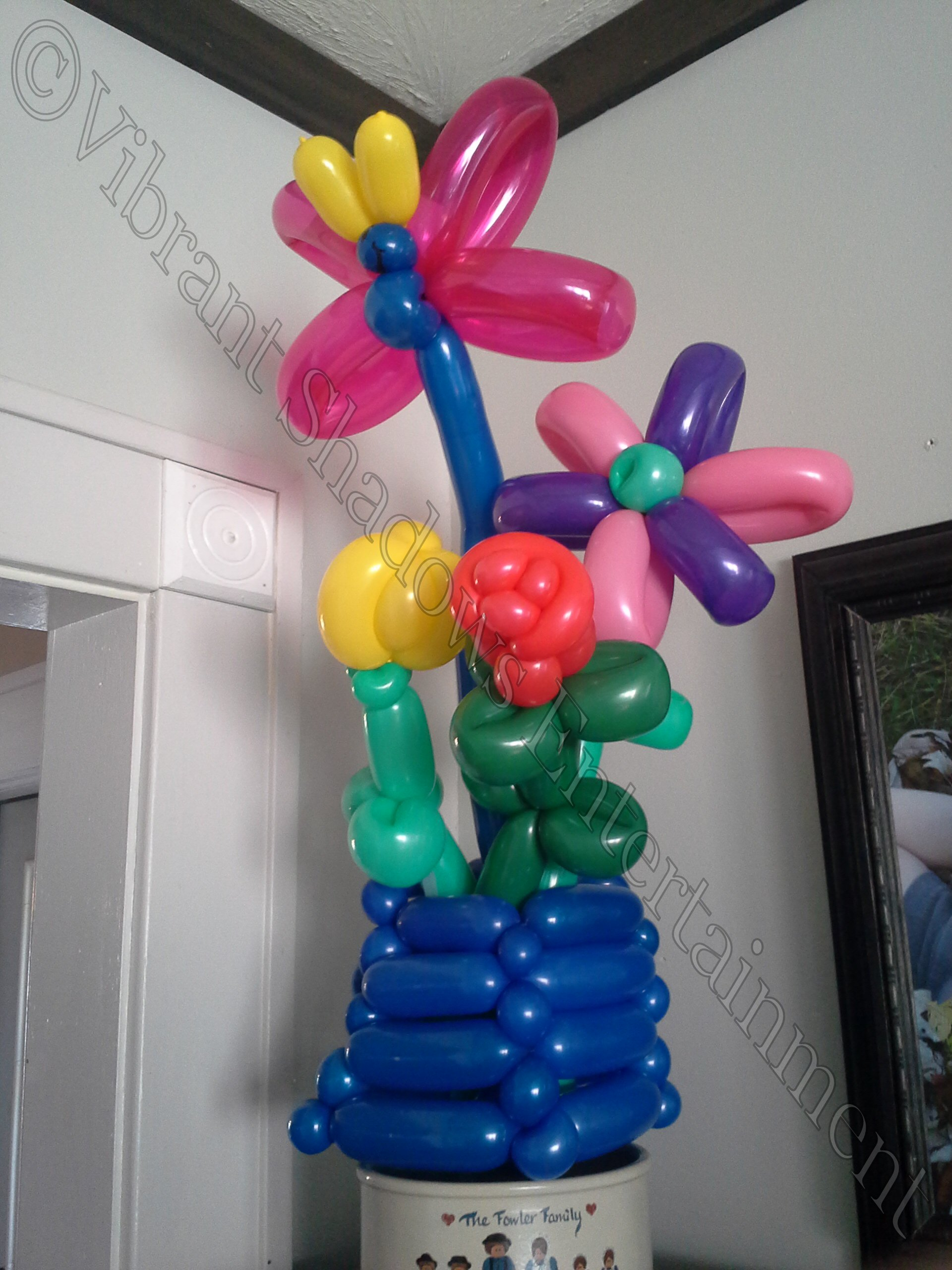 Flower baloon sculptures