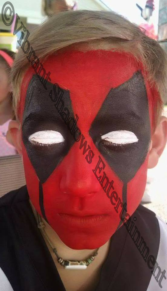 Deadpool face painting