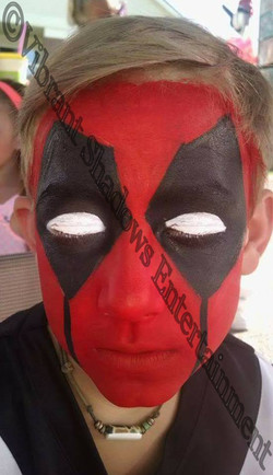 Deadpool face painting