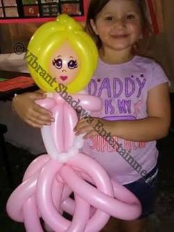 Princess balloon sculpture