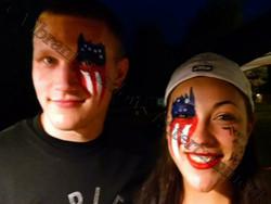Patriotic face painting