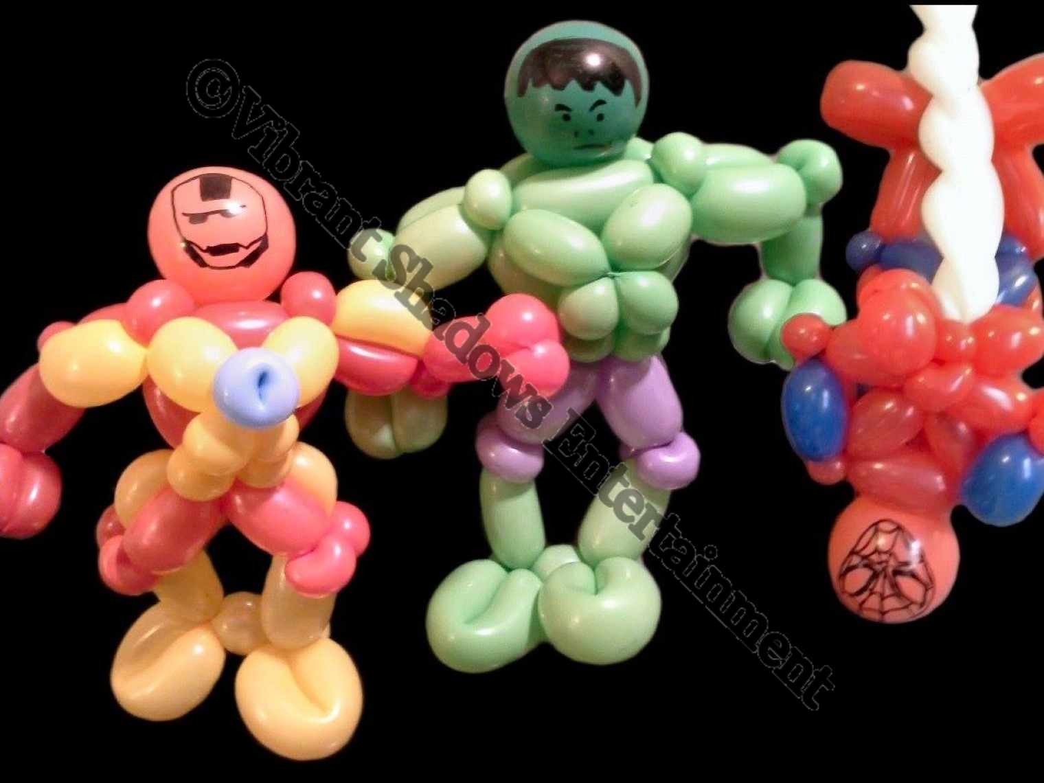 Superhero balloon sculptures
