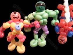 Superhero balloon sculptures