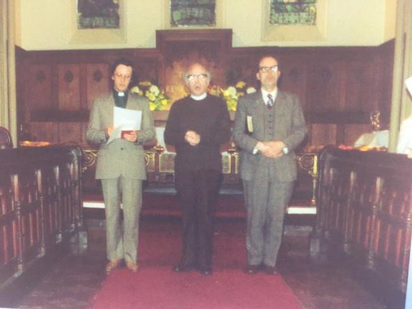 Revd. Roger Dobson, Revd. Ken Short & Alan Farrant - 1985