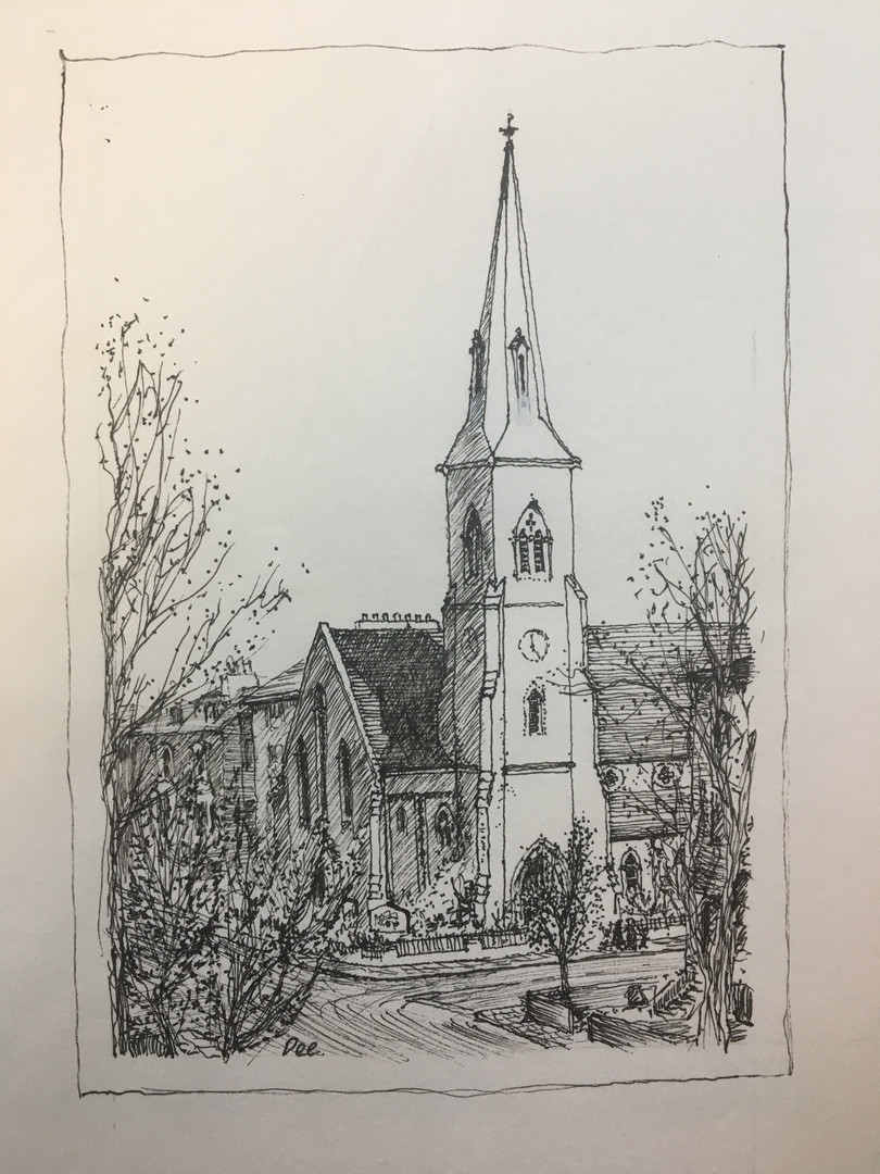 Drawing of St. Mark's by Revd. K.A. Short - 2003