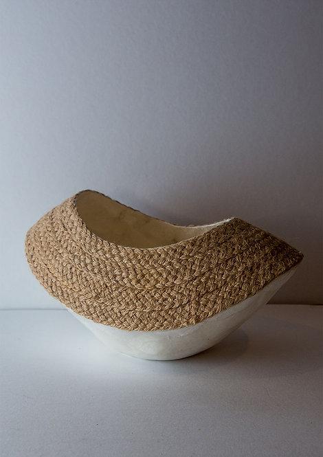 Woven Capiz Boat Bowl