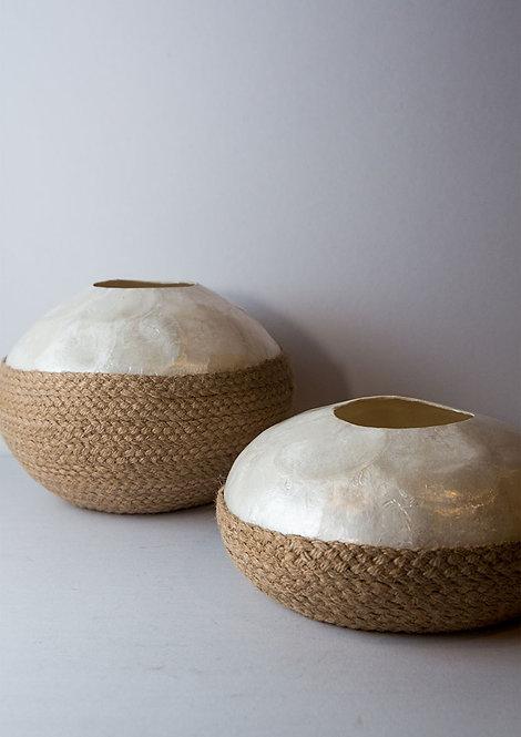 Capiz Circular Vase