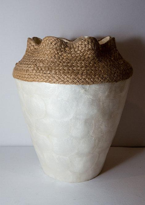 Woven Capiz Jar