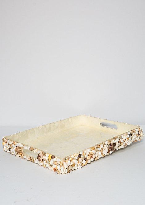 Sea Shell Rectangular Tray Natural
