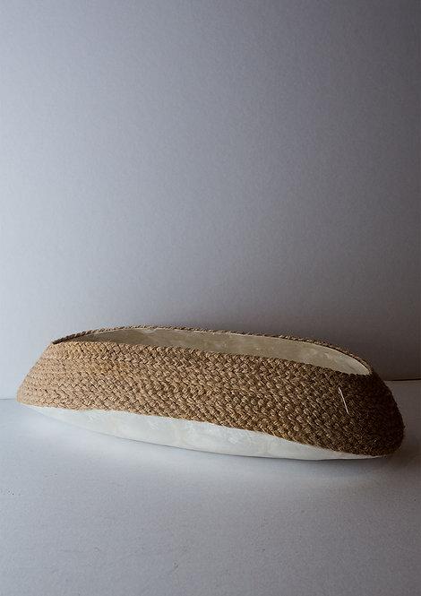 Woven Capiz Flat Vase