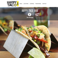 Happy Taco Bar Website - Boxless Web Design