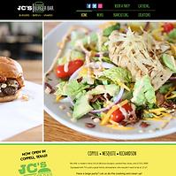 JC's Burger Bar Website - Boxless Web Design