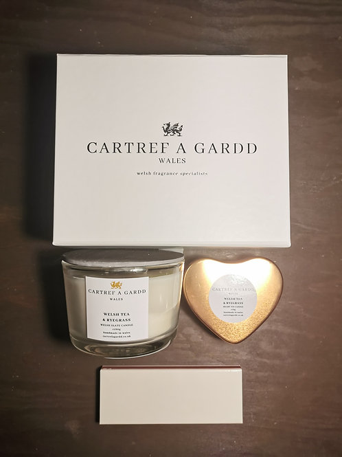 Small Slate Candle and Travel Candle Gift Set