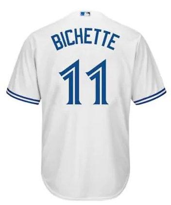 Men's Toronto Blue Jays Bo Bichette Majestic White Cool Base Jersey