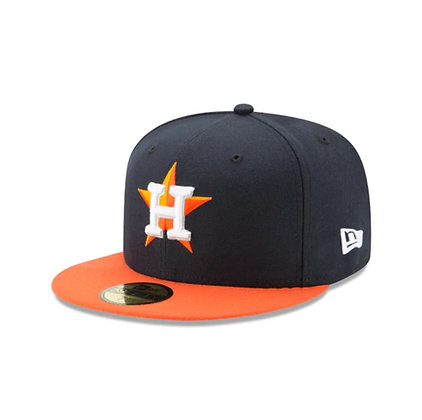 Men's Houston Astros New Era On Field 59FIFTY Navy / Orange Fitted Hat