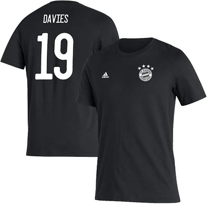 Men's adidas Alphonso Davies Black Bayern Munich Amplifier N&N T-Shirt