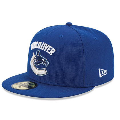 Men's Vancouver Canucks Team Logo New Era Royal Blue 59FIFTY Fitted hat