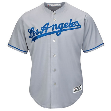 "Men's LA Dodgers Majestic Gray ""LOS ANGELES"" Road Cool Base Jersey"