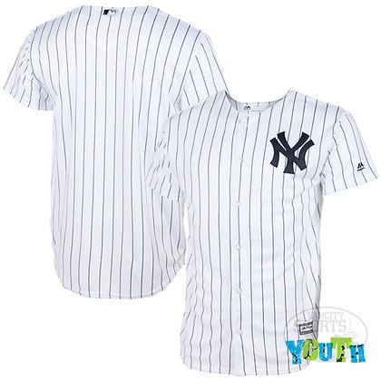 Youth's New York Yankees Majestic White Home Cool Base Jersey