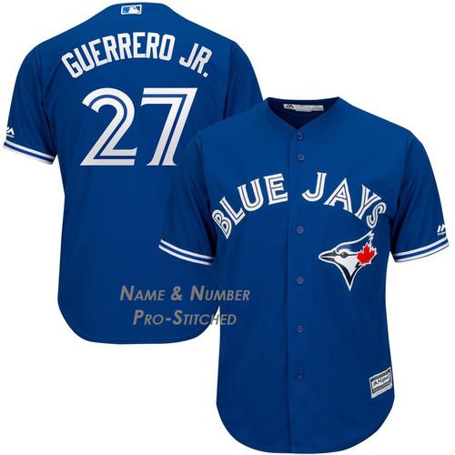 9acbde4861afa Men s Toronto Blue Jays Vladimir Guerrero Jr. Majestic Blue Cool Base Jersey