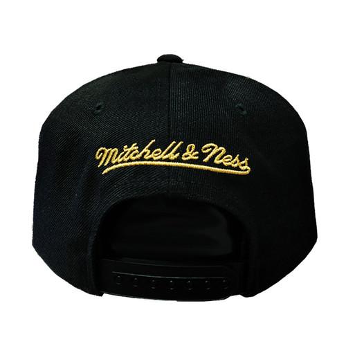 d4f7b1e8fe6da8 Men's Vancouver Grizzlies Presto Gold Trim Mitchell & Ness Black Snapback  Hat