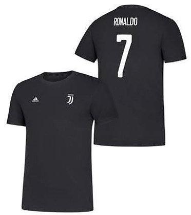 Men's adidas Cristiano Ronaldo Black Juventus Amplifier N&N T-Shirt