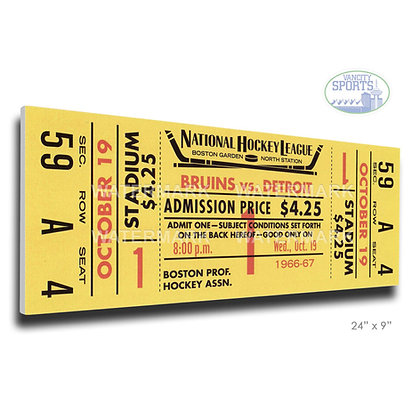 Bobby Orr's First Game Mega Ticket Boston Bruins