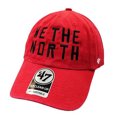 Men's Toronto Raptors 47 Brand Clean Up Red Adjustable Hat
