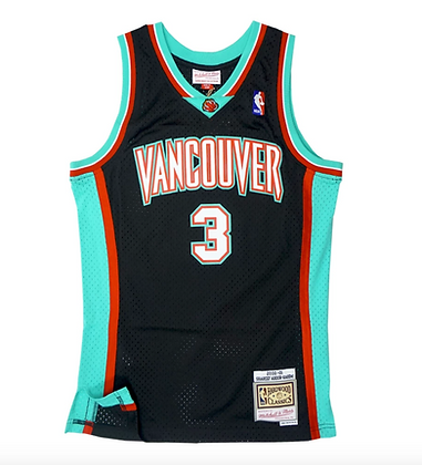 Men's Vancouver Grizzlies Shareef Abdur-Rahim Mitchell &a Ness Black Jersey