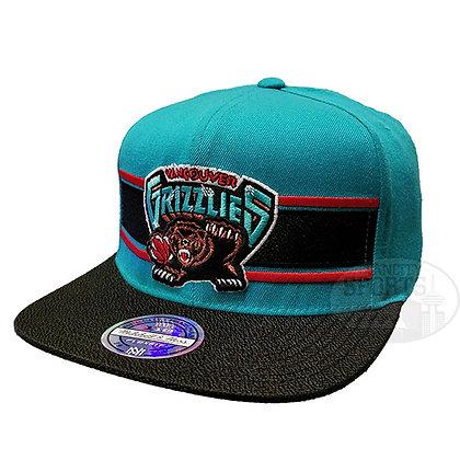 Men's Vancouver Grizzlies Eradita Mitchell & Ness Black Flex Snapback Hat