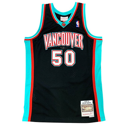 Men's Vancouver Grizzlies Bryant Reeves Mitchell & Ness Black Jersey