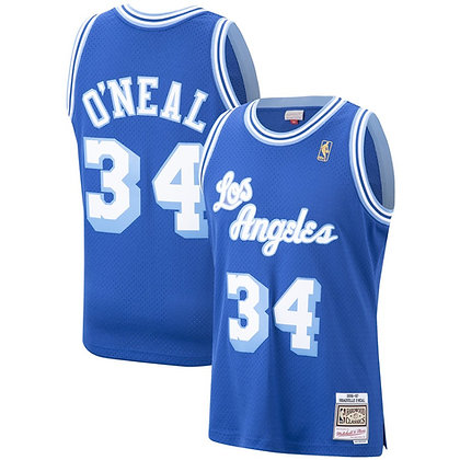 Men's LA Lakers Shaquille O'Neal 1996-97 Royal HWC Mitchell & Ness Swingman