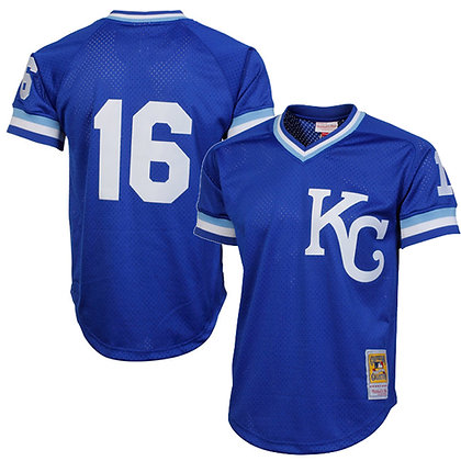 Kansas City Royals Bo Jackson Mitchell & Ness Royal 1989 Batting Practice Jersey