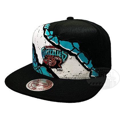 Men's Vancouver Grizzlies PEELED Mitchell & Ness Black Snapback Hat