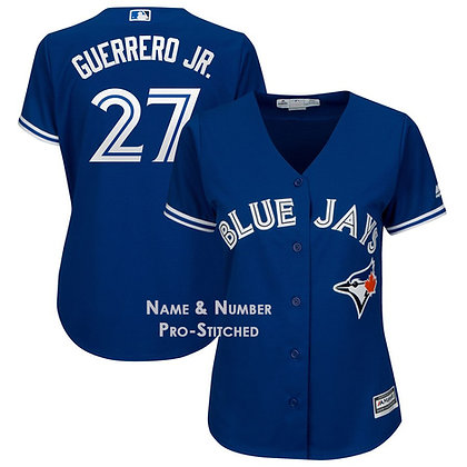 Women's Toronto Blue Jays Vladimir Guerrero Jr. Majestic Blue Cool Base Jersey