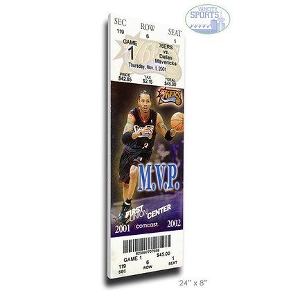 Allen Iverson MVP Canvas Mega Ticket – Philadelphia 76ers