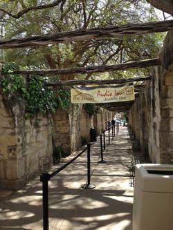 Shaded entrance to Alamo