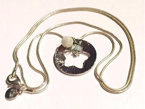Silberkette mit Sternanhänger und Amazonit