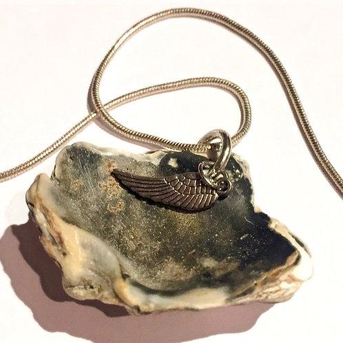 Zeelandmuschelanhänger mit Silberkette