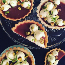 Guava Buttermilk Tarts