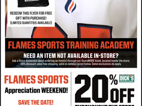 Announcing: Flames Day at Dick's Sporting Goods