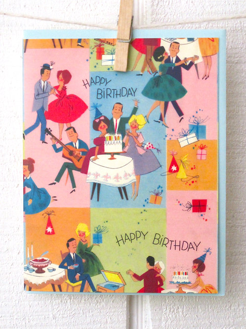 """Party"" Happy Bird Card"