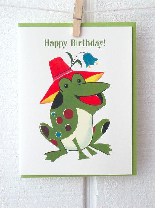 """Frog"" Happy Birthday Card"